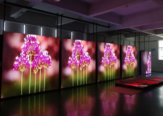 China Good Heat Dissipation P4 Video Wall Rental With Rgb Led Lamps 256  * 128mm supplier