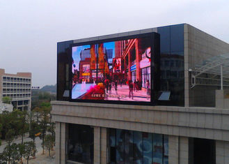 China Commercial Giant Led Screen Outdoor Advertising , Outdoor Digital Message Board 10mm Real Pixels supplier