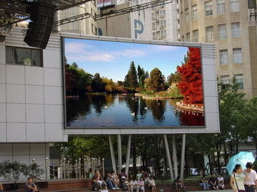 China Rgb Smd3535 10mm Outdoor Led Displays Big Massive Video Wall Great Waterproof supplier