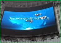 Slim P10 Outdoor Curve LED Display , LED Large Screen Display Quick assemble