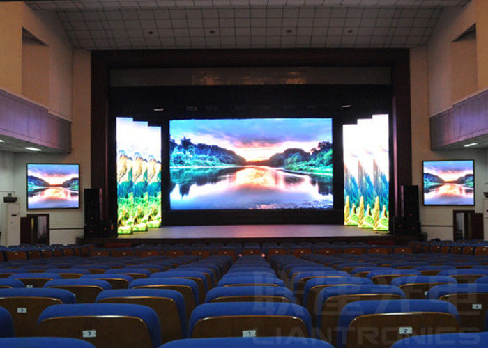 Dj Booth For Sale >> SMD2121 RGB Indoor LED Exhibition Screen , 5mm Big Led Video Display Wall