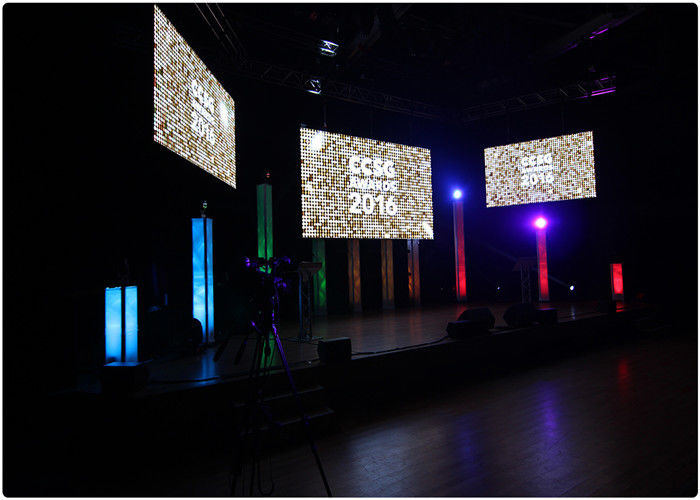 High Resolution Mp4 Led Video Wall Rental , Smd Led