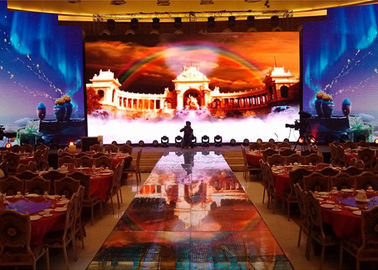 P4 Indoor Led Display Video Wall Rental With 64 * 32 Module Resolution