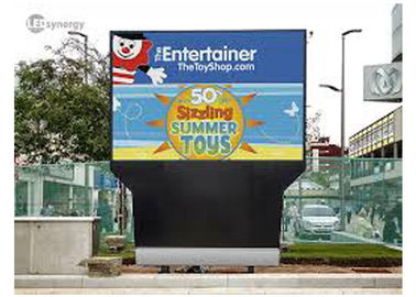 China High Resolution Outdoor LED Displays 10mm RGB Real Pixels For Landmarks / Transportation distributor