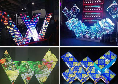 China Gorgeous Various Shape Dj Booth LED Screen Adjustable Brightness Full Color distributor