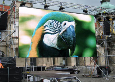 Super Slim Outdoor Led Screen Rental , Flexible Led Display Video Wall With 2 Years Warranty