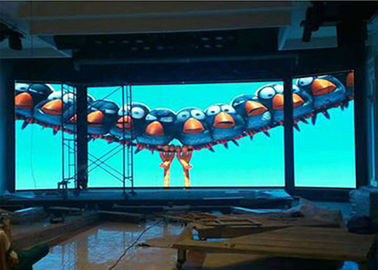 China Wall Mounted Curved Indoor Full Color Led Display P3.91 860w High Brightness distributor