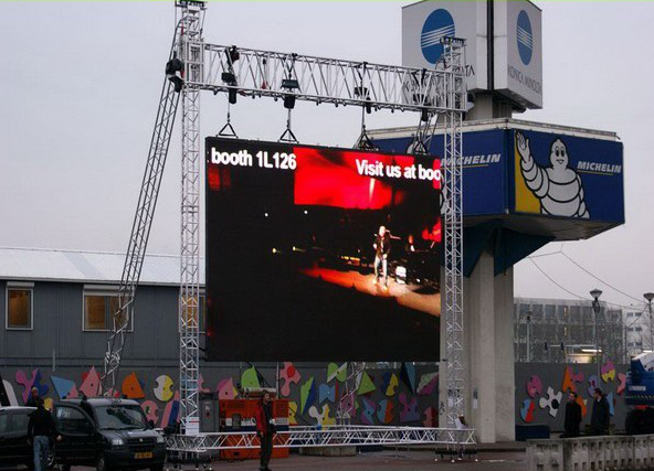 Noiseless SMD Exterior Giant Rgb Led Screen Rental Low Power Consumption