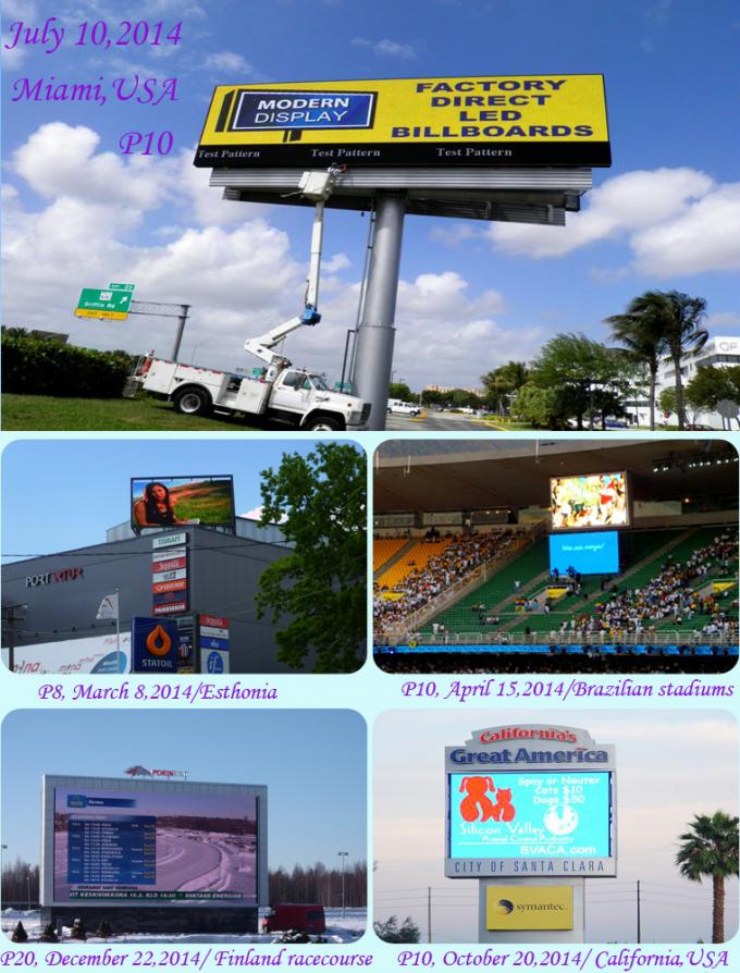 High Contrast Outdoor Led Video Wall Football Field Front Maintain SMD2121 P3.91 RGB