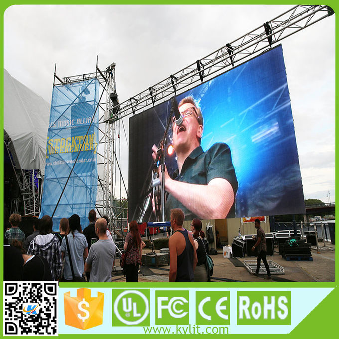 Stage Rental Led Display Screen Super Thin P3.91 Video Wall SMD1921 64x64 Dots
