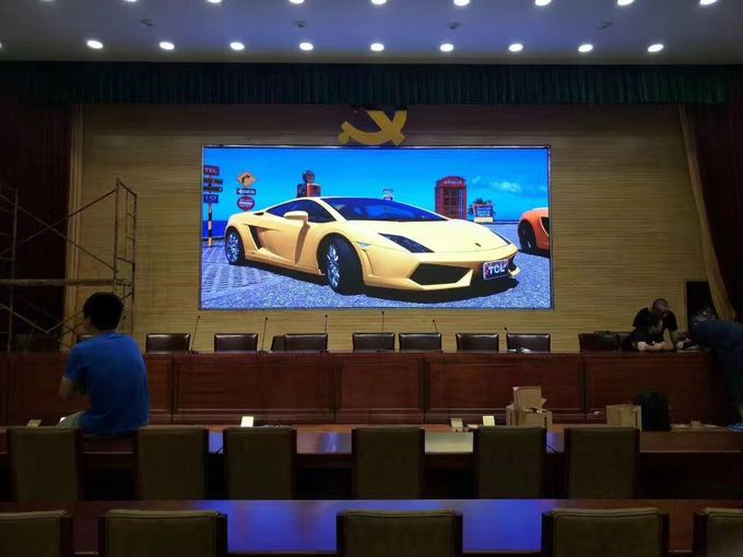 P1.875 Indoor Advertising Led Display Screen Stage Back 1200cd/sqm Brightness
